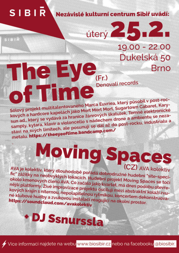 The Eye Of Time + Moving Spaces + DJ SSnurssla